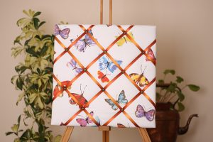 Multicoloured Butterflies Noticeboard