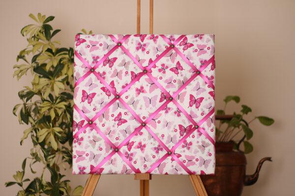 Pink Butterflies Noticeboard