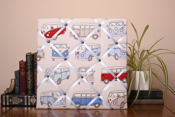 Blue Campervan Noticeboard