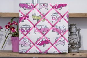Pink Campervan Noticeboard