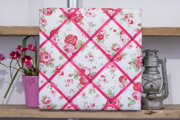 Pink Floral Noticeboard