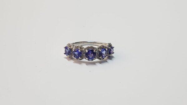 Tanzanite and Diamond Gold Ring