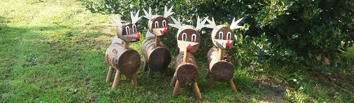 Handmade Christmas Wooden Reindeer