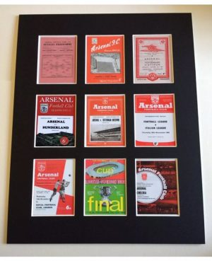Arsenal Mounted Retro Football Programmes Picture